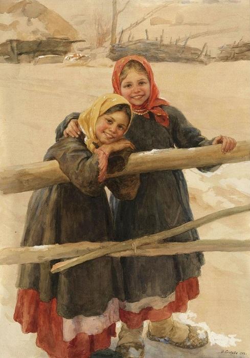 Калужские крестьянки. (1909).
