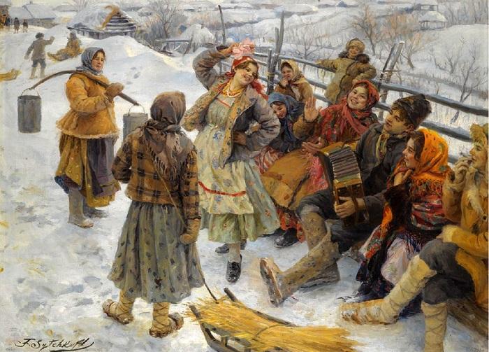 Праздничный день. Автор: Федот Сычков.