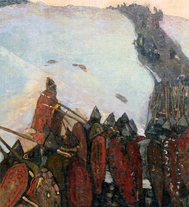 Н.К. Рерих. «За Родину». Рать. (1900).