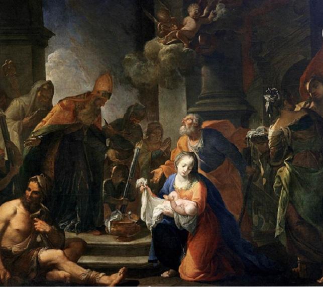 Сретение. Автор: Андреа Селести. 1710.