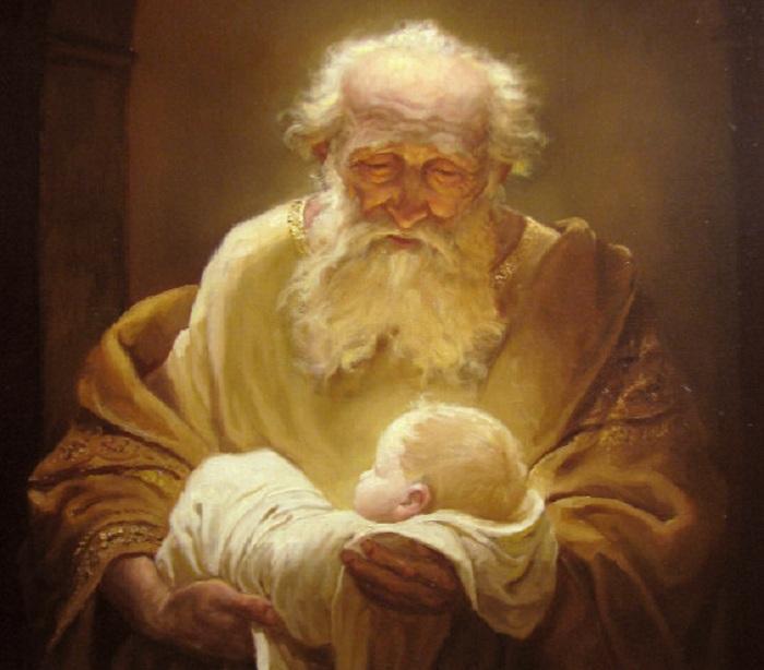 Симеон и Иисус. Автор: Шишкин Андрей Алексеевич.