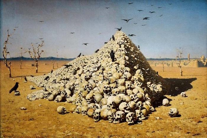 Апофеоз войны. (1872). Третьяковская галерея. Автор: Василий Верещагин.