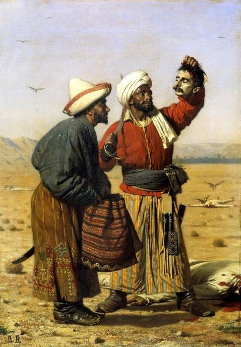 После удачи. 1868, Государственный Русский музей. С.-Петербург. Автор: Василий Верещагин.