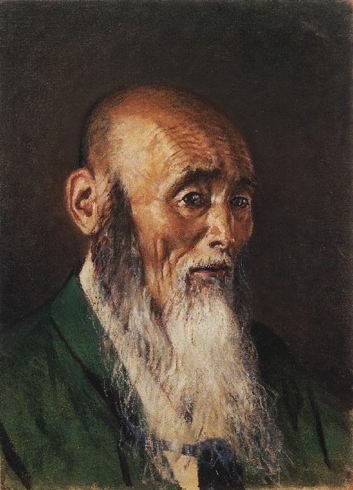Портрет японского священника. (1904) Автор: Василий Верещагин.