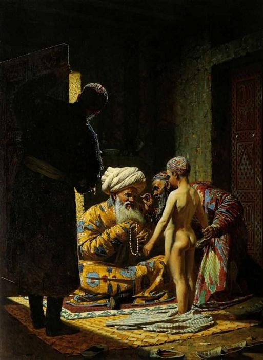 Продажа ребенка - невольника. (1871 - 1872). Автор: Василий Верещагин.