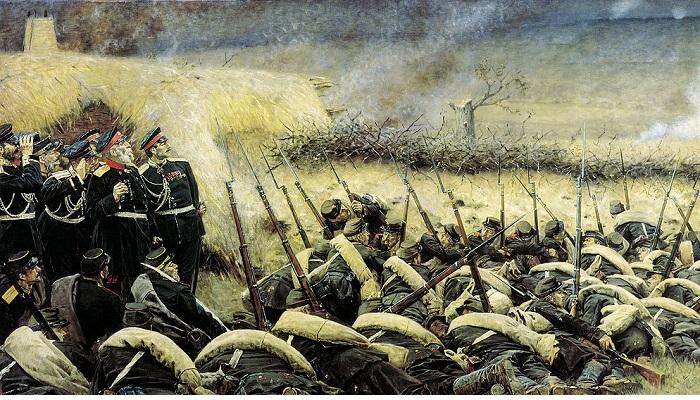 Перед атакой. Под Плевной. (1881). Автор: Василий Верещагин.