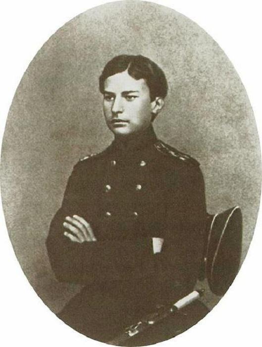 Василий Верещагин в период окончания Морского кадетского корпуса. Фото 1859 — 1860 годов.