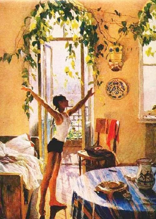 «Утро».(1954). Автор: Татьяна Яблонская.