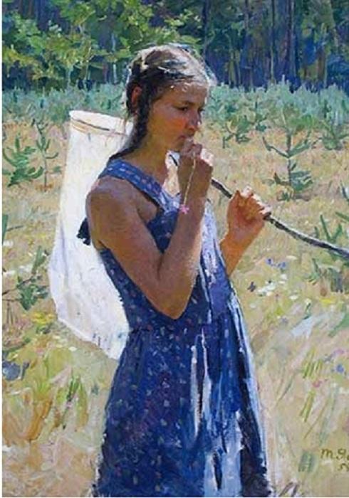 «Дочка с сачком» . Автор: Татьяна Яблонская.