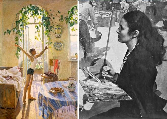 «Утро».(1954).  Татьяна Яблонская.