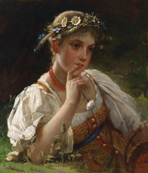 «Девушка в венке». Автор: Фирс Журавлев.