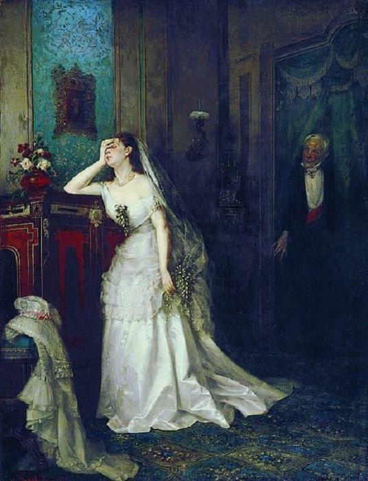 «Неравный брак». (1880). Автор: Фирс Журавлев.