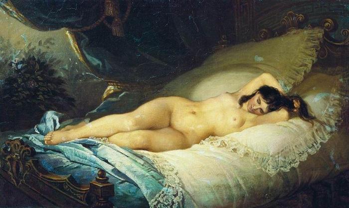 «Нагая женщина», (1901). Государственный Русский музей. Автор: Фирс Журавлев.