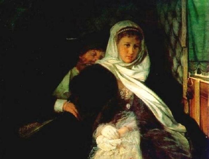 «Возвращение с бала». (1869). Автор: Фирс Журавлев.