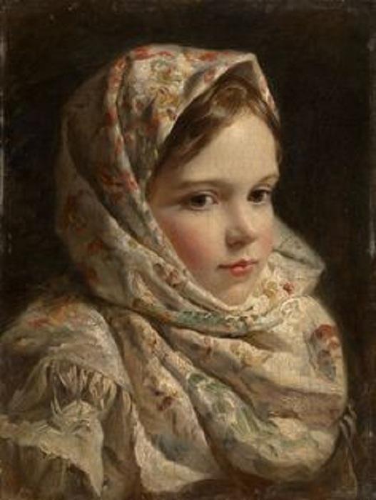 «Девочка в платке». Автор: Фирс Журавлев.