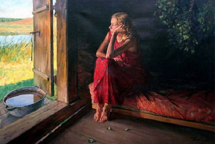 «В бане». Автор: Григорий Чайников.