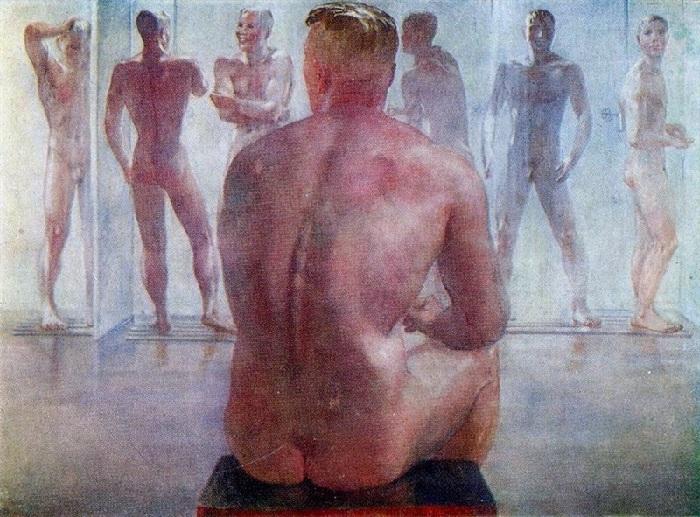«После боя». (1942г.). Автор:Александр Дейнека.
