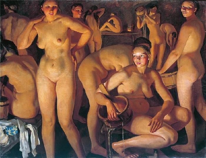 «Баня». (1913 г.). Автор: Зинаида Серебрякова.