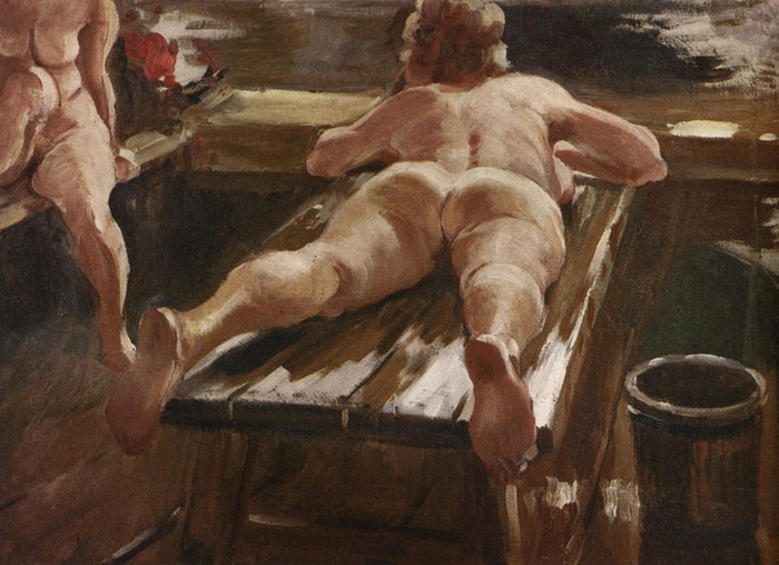 «Русская баня». Автор: А.Герасимов.