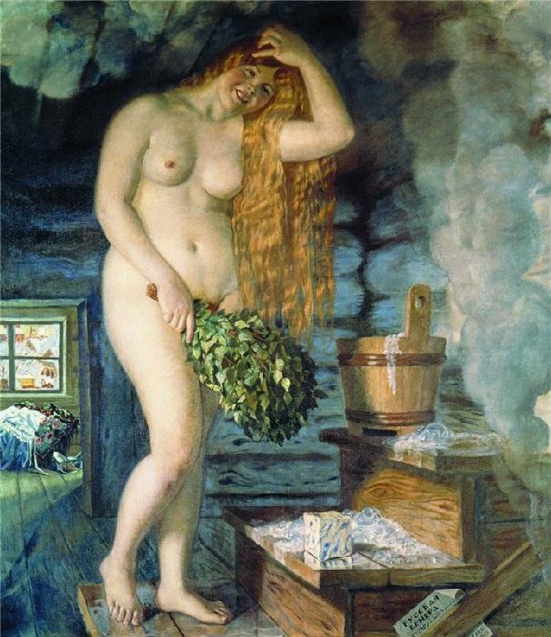 «Русская Венера». (1921 г.). Автор: Борис Кустодиев.