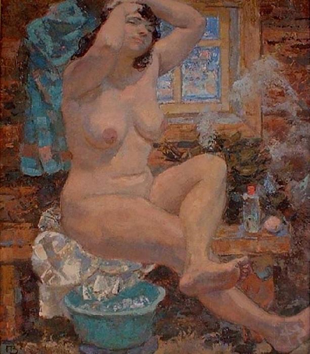«В баньке». Автор: Валерий Пустошкин.