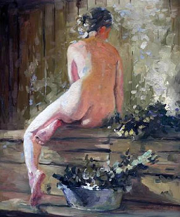 «В бане». Автор: Денис Чернов.