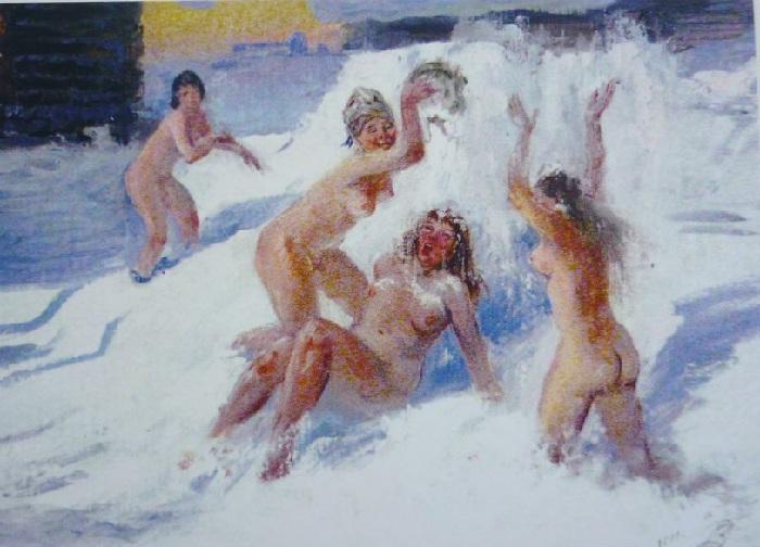 «Зима. Баня». Автор: Владимир Трещеев.
