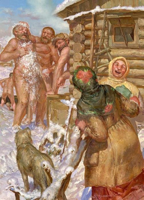 «После парной». Автор: В.Чумаков.
