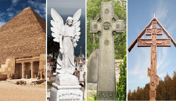 Познавательные факты из истории возникновения надгробных памятников разных народов мира.