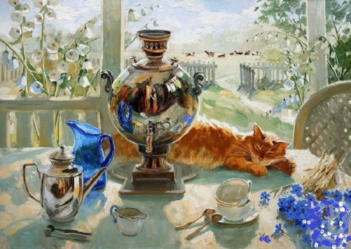 На даче. Автор: Павлова Мария Станиславовна.