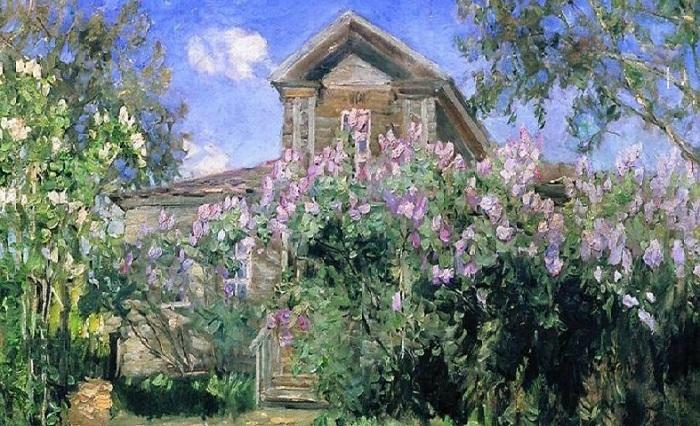 «Дача в саду». Автор: Витольд Бялыницкий.