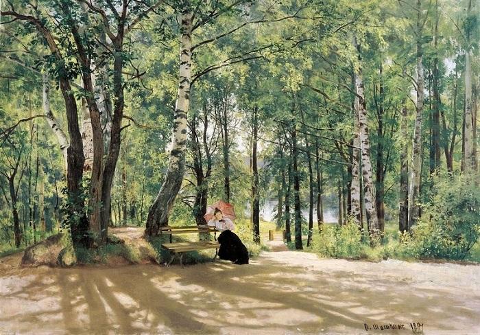 «Около дачи». (1894). Государственный музей изобразительных искусств Республики Татарстан. Автор: Иван Шишкин.