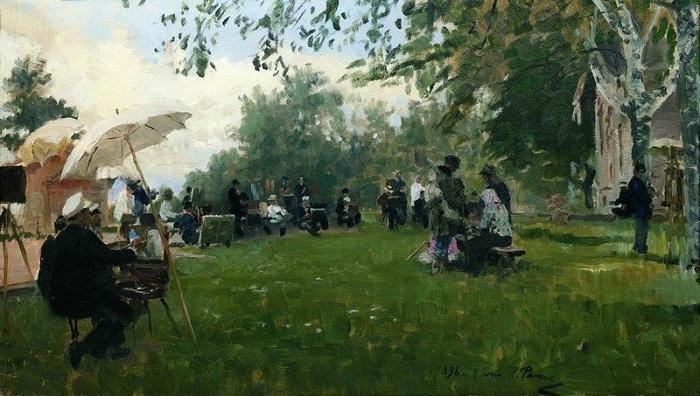 «На Академической даче». (1898). Автор: Илья Репин.