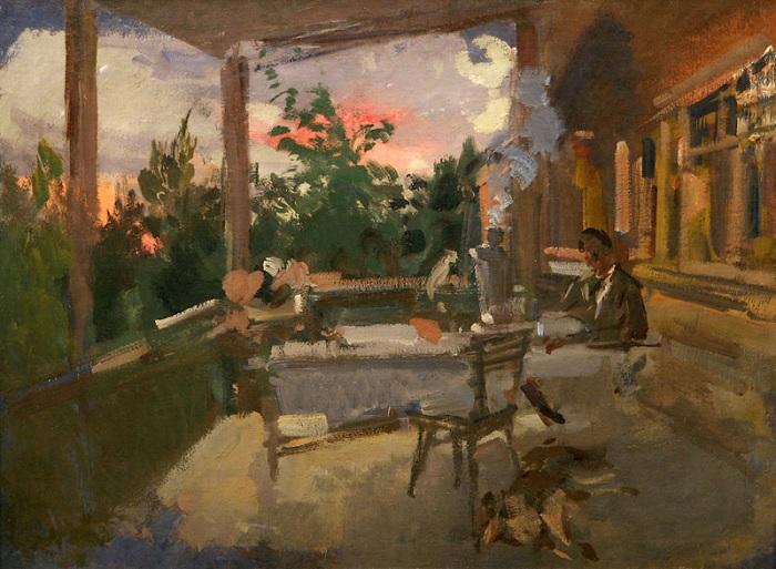 «Вечер на террасе (Охотино)» (1915). Автор: Константин Коровин.