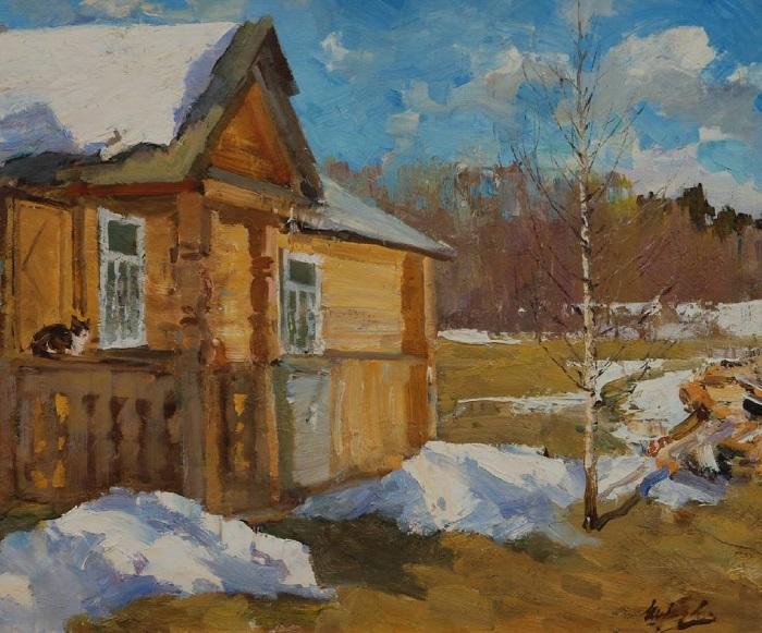 «Весна на даче». Автор: Вячеслав Федорович Шумилов.