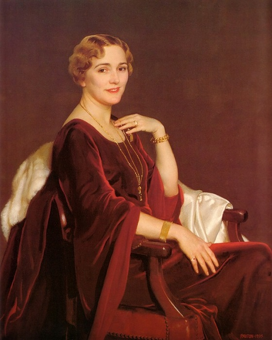 Portrait Of Mrs Charles Frederic Toppan. (1935г).  Автор: William Paxton.