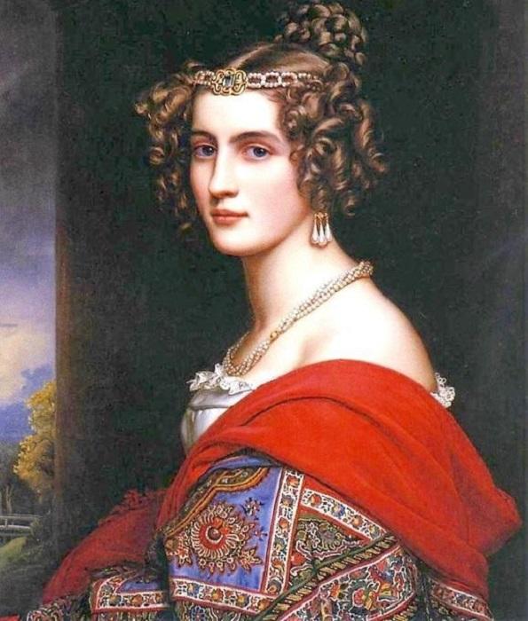 Женский портрет. Автор: Karl Joseph Stieler.