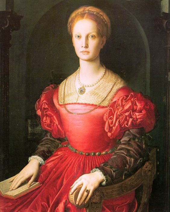 Лукреция Панчиатики. (1540г). Автор: Аньоло Бронзино.