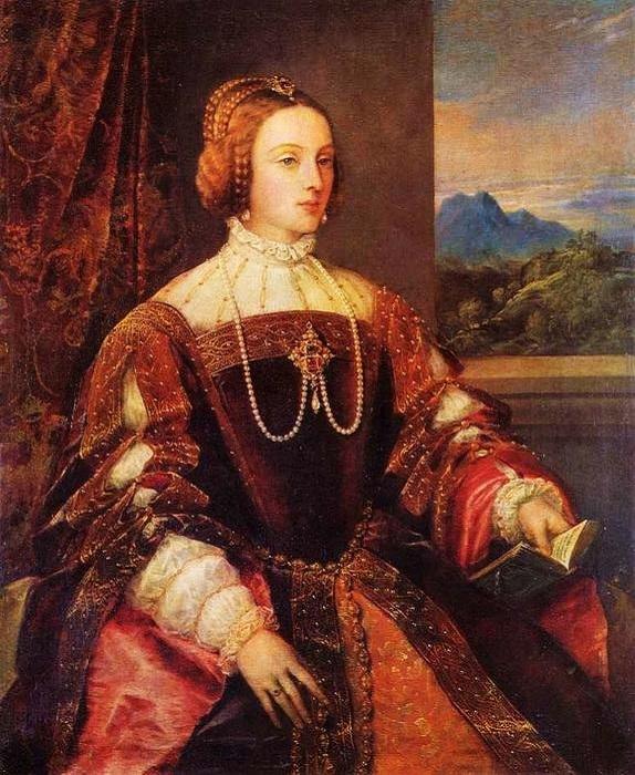 Изабелла португальская. (1548). Автор:Тициан Вечеллио.