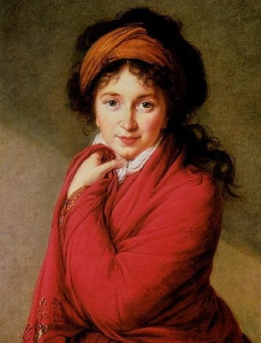 . Портрет графини Варвары Головиной. 1798г. Автор: Виже-Лебрен.