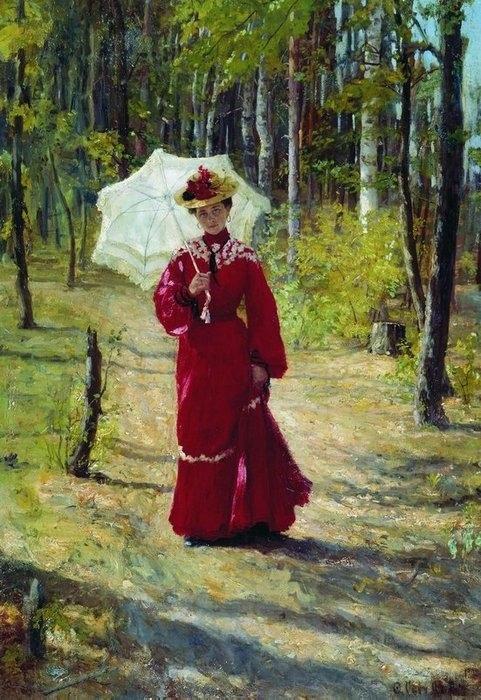 Портрет жены художника. (1903). Автор: Сычков Федот.