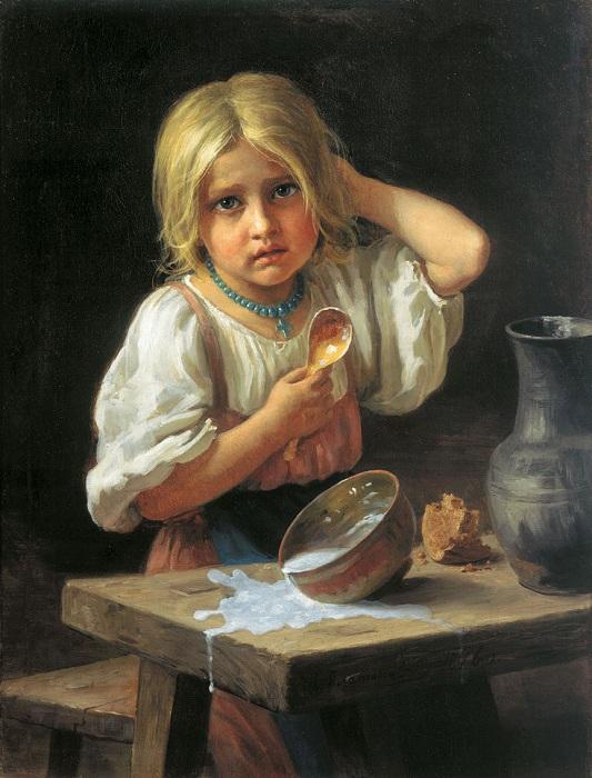 Портрет девочки. Автор: Харитон Платонов.