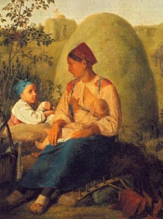 Сенокос. Автор: А. Венецианов.
