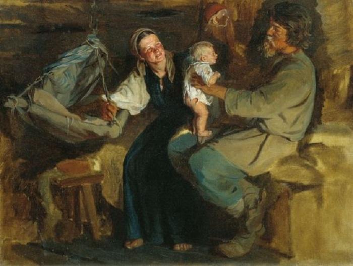 Родительская радость.  Автор: К.В.Лемох.