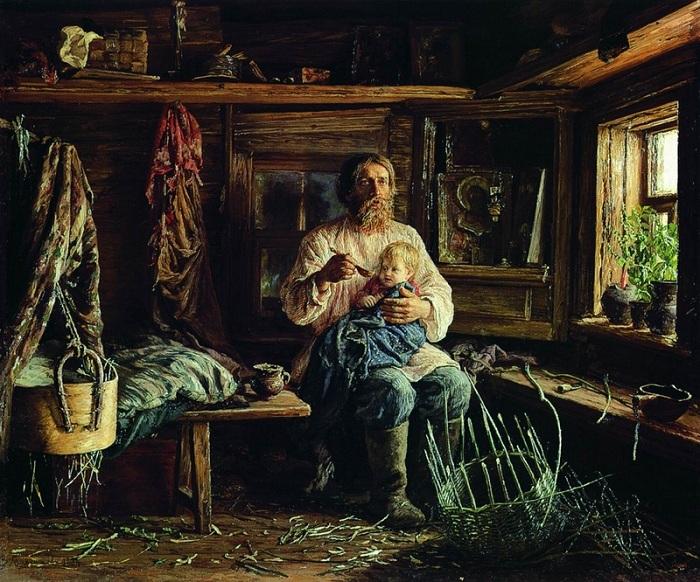 Слепой отец. (1884). Автор: Максимов М.В.