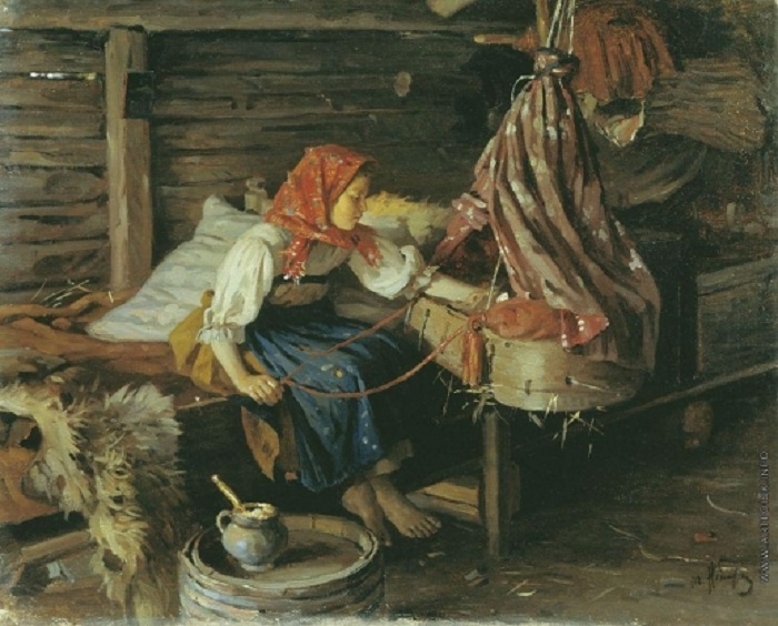 Няня. (1913). Автор: Игнатьев Михаил Иванович.