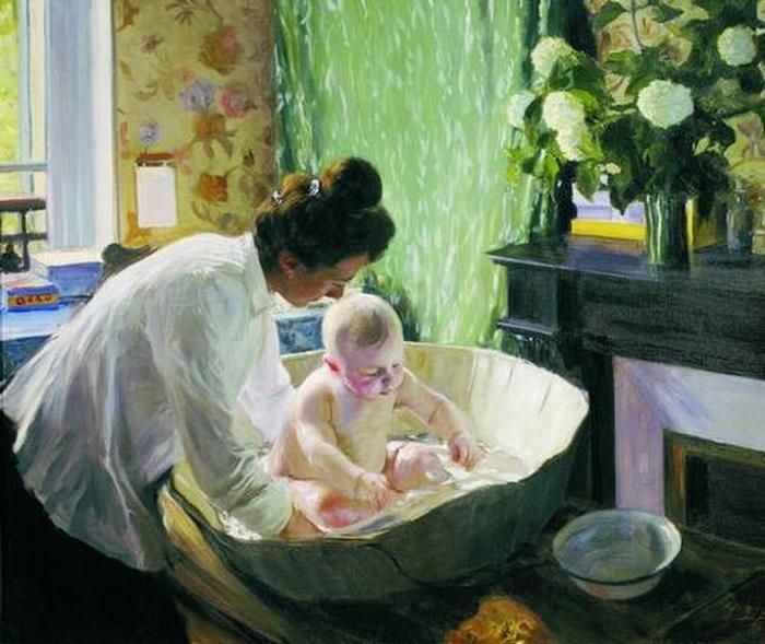 Утро. (1904). Автор: Борис Кустодиев.