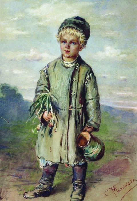 Крестьянский мальчик. Автор: Константин Маковский.