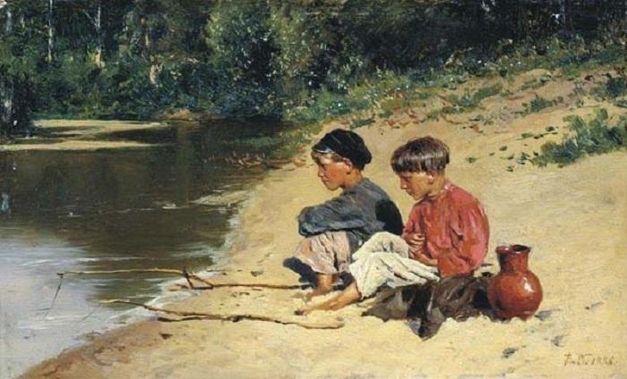 Рыбачки. (1886). Автор: Владимир Маковский.