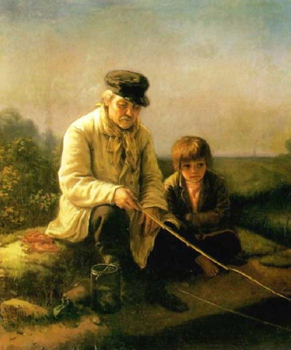 На рыбалке. Автор: Василий Перов.